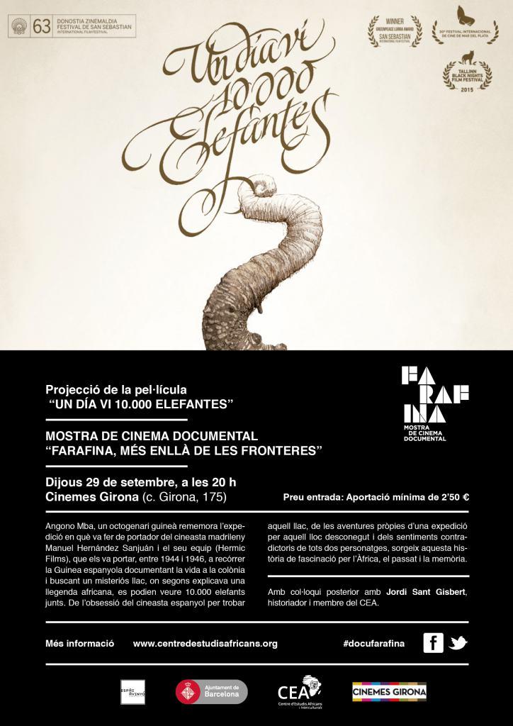 """Cinquena Sessió de la Mostra de Cinema Documental """"Farafina 2016""""."""