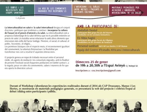 Workshop: Interculturalitat en l'àmbit de la salut a Barcelona.