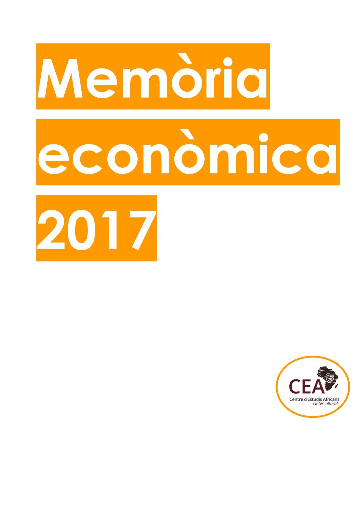 Memoria economica 2017